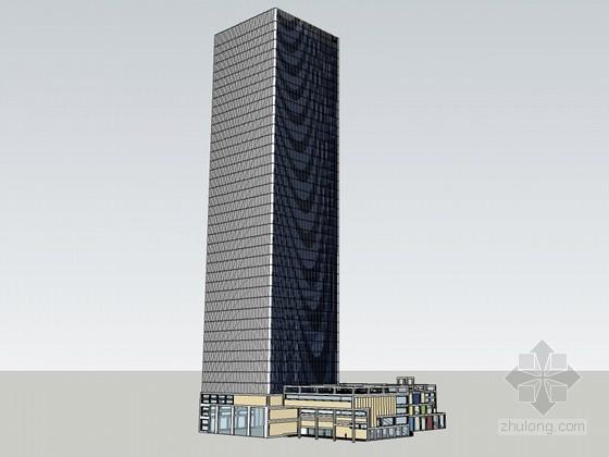 高层建筑SketchUp模型下载-高层建筑