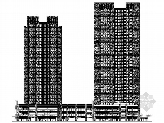 [重庆]大学城地块现代风格商业及住宅建筑设计施工图(知名建筑设计院)