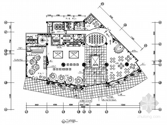 [深圳]中心商贸区现代售楼处室内CAD装修图(含效果)