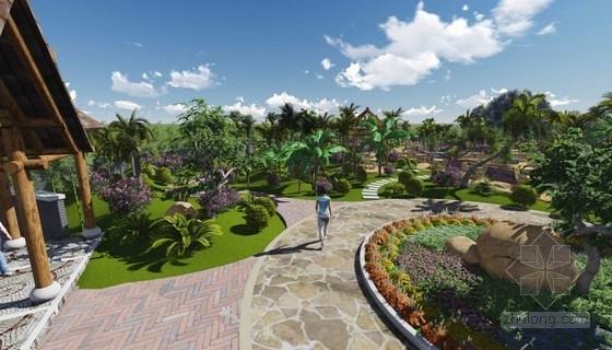 [国外]东南亚风情小游园景观设计方案
