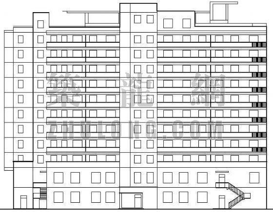 某板式小高层商住楼施工图
