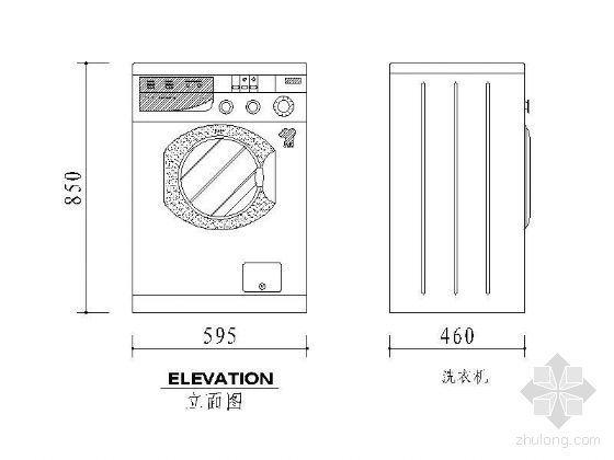 常用家电图块及尺寸图