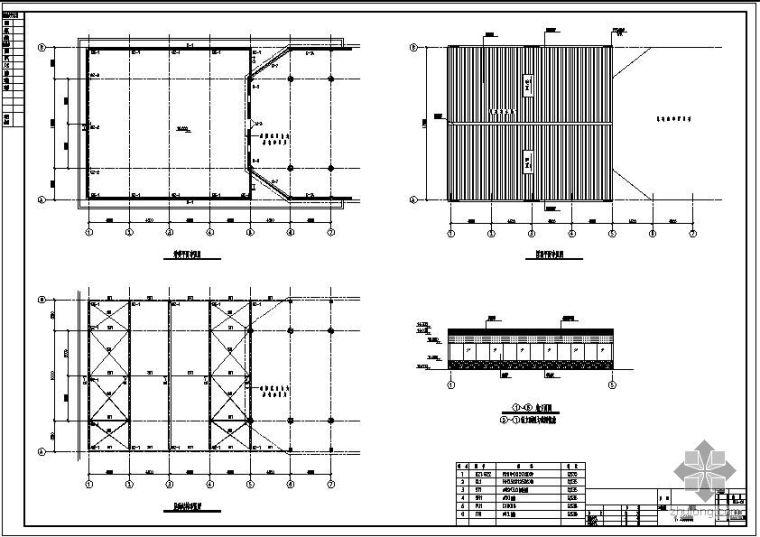 某餐厅增建钢结构节点构造详图