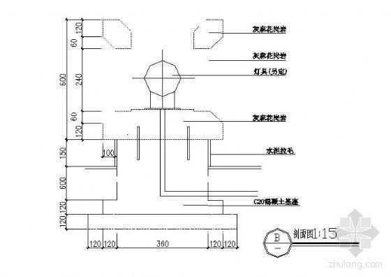 工艺石灯设计图