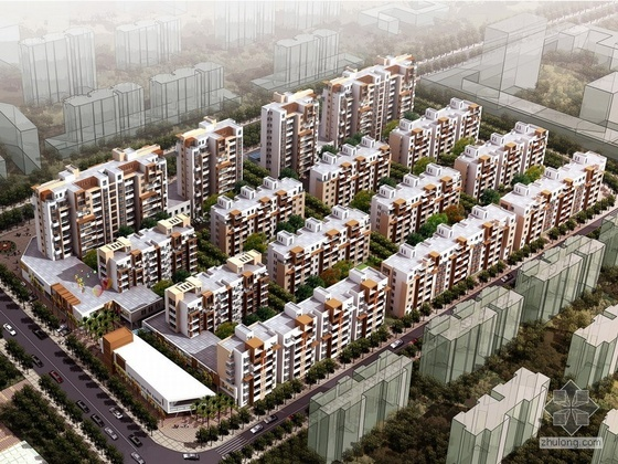 [淮南]广场北路某院校职工住宅区规划及建筑方案设计文本(含CAD图)