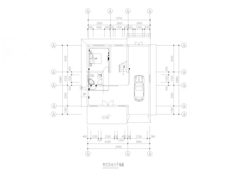江西某经济型别墅全套施工图(建筑结构水电)_6