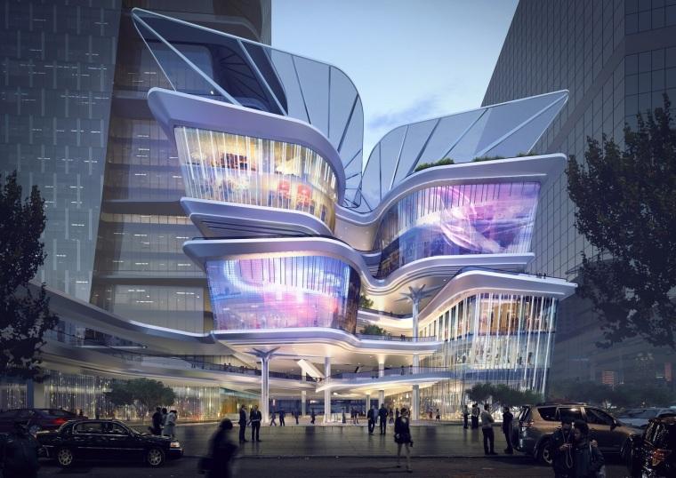 动静渐变的立面:深圳罗湖区友谊交易中心动态设计
