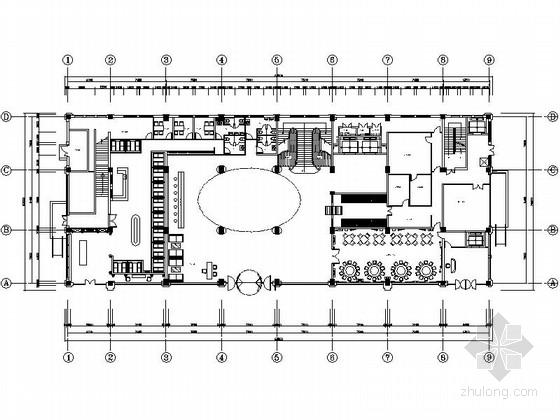 [上海]特色餐饮连锁企业酒店中式茶楼装修设计施工图