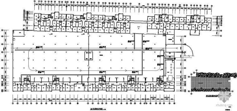 地下车库电缆桥架平面图