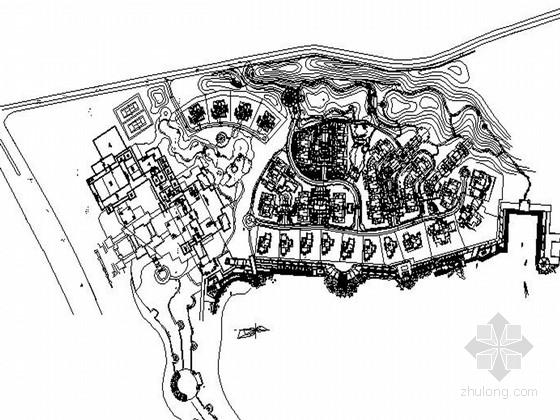 [山东]高档住宅区景观规划设计施工图