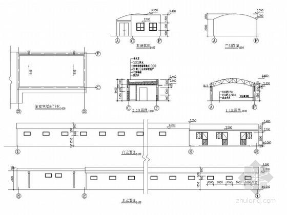 多孔砖结构大棚结构施工图
