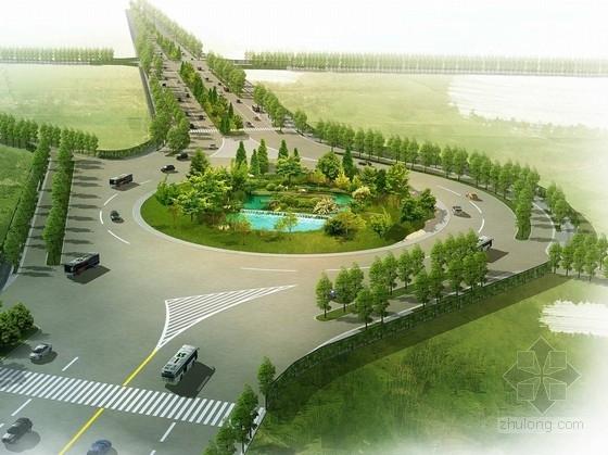 [湖北]滨水生态绿道道路景观节点设计方案