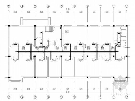 [陕西]多层行政办公楼空调系统设计施工图