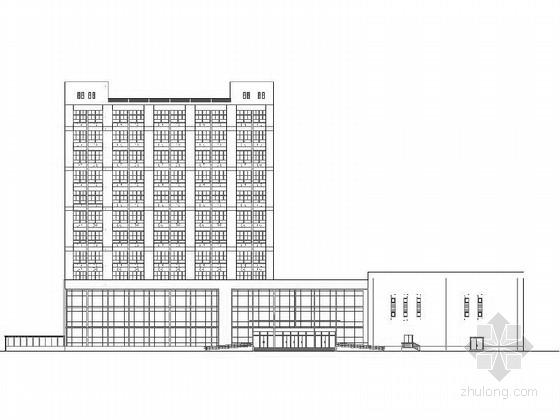 [宁波]12层现代风格化学利用行政办公楼建筑施工图(知名石化集团)