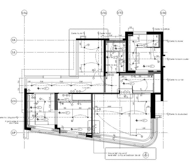 [香港]现代轻奢风格复式楼层装修全套施工图(附效果图)_4