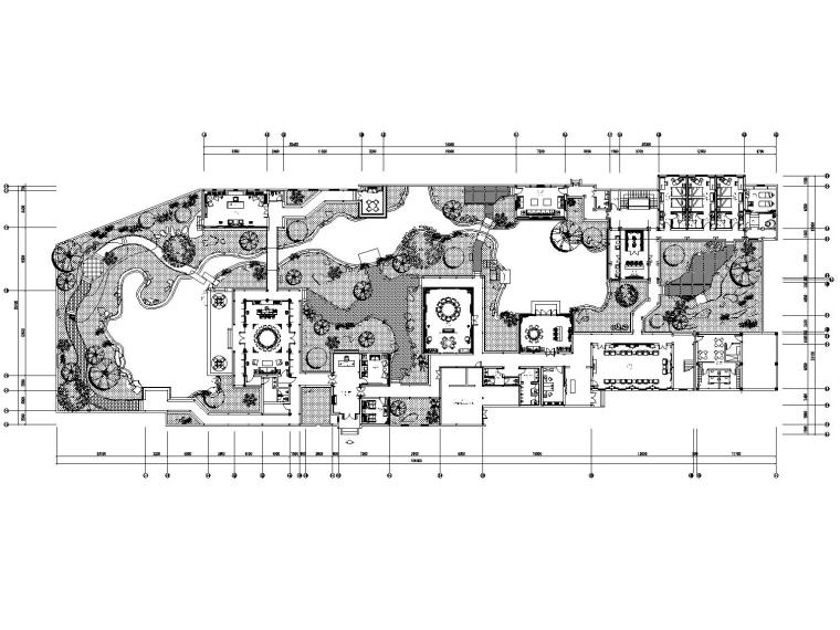 [南京]金螳螂设计——新中式休闲会所室内装修施工图(附效果图)
