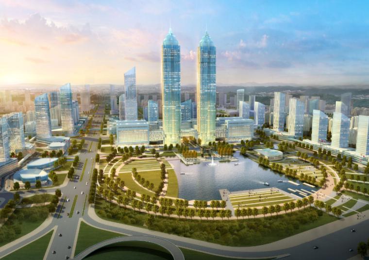 VIVO总部设计方案文本资料下载-[河南]郑州27运河新区总部经济产业园城市设计方案文本