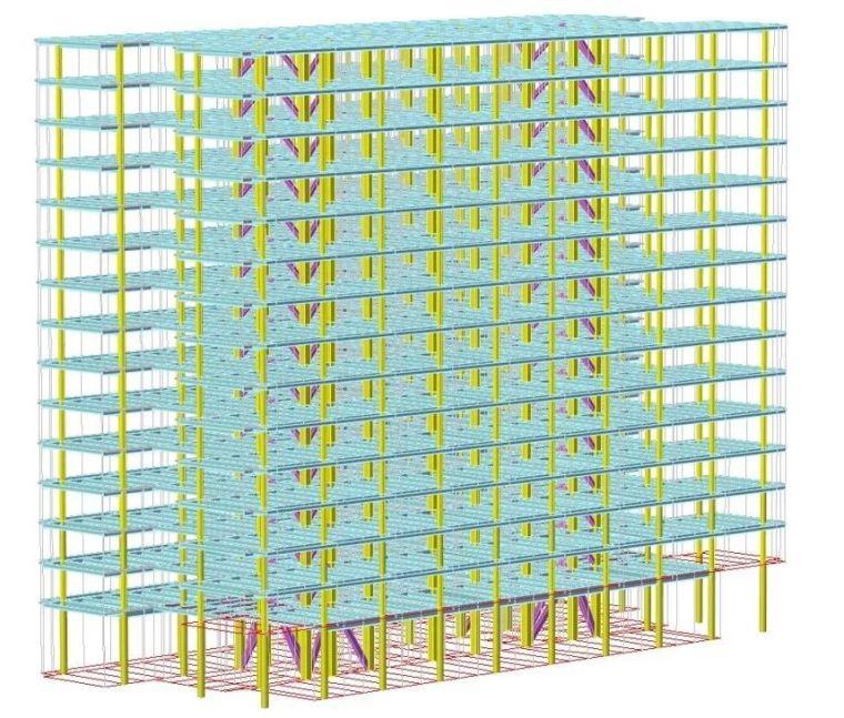 装配式要求下的百米办公楼结构体系_5
