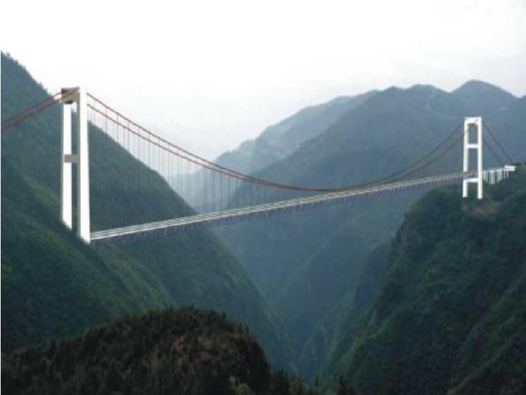 [湖北]钢桁架悬索特大桥先导索火箭抛送施工方案