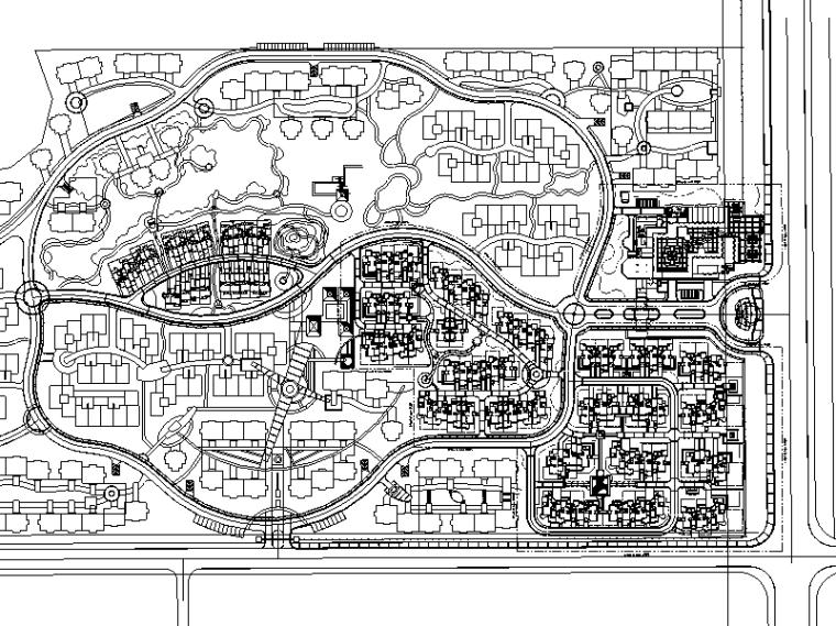 [江苏]南京山水华门居住区景观施工图设计(包含CAD)