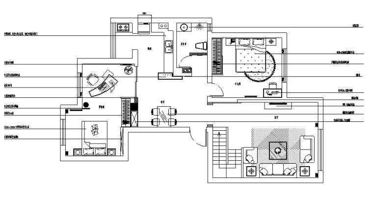 希腊爱琴海风格二层别墅设计施工图(附效果图)
