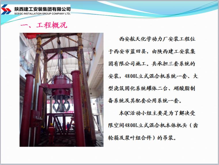 [QC成果]受限空间4800L混合机机头吊装