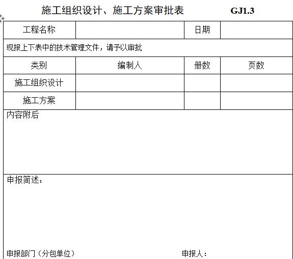 钢结构工程验收资料表格(全套)