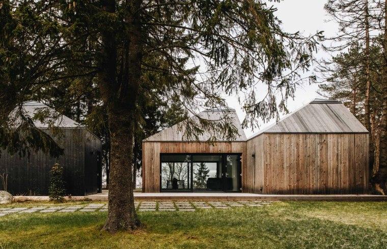 头顶尖帽,身披木衣的爱沙尼亚森林住宅
