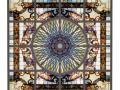 玻璃吊顶-镶嵌彩色玻璃天花吊顶二