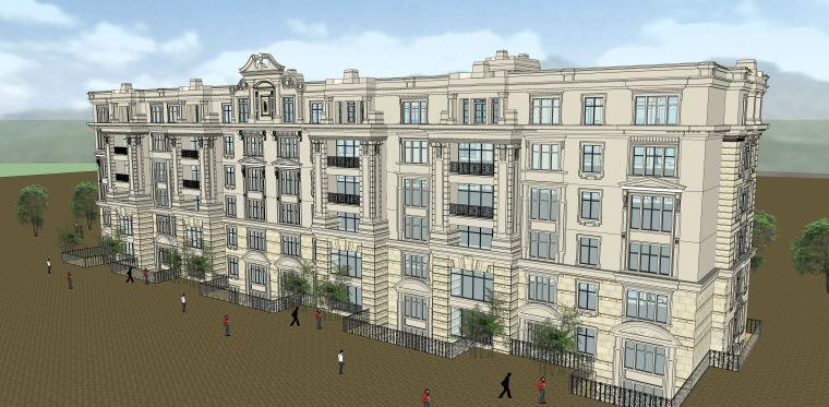 欧式风格住宅SU模型
