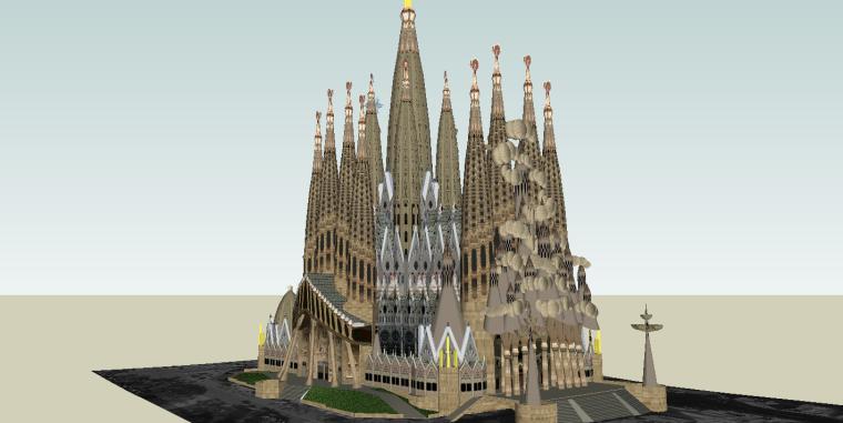 圣家族大教堂SU建筑模型