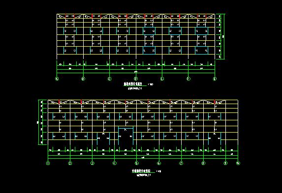 门式刚架带夹层结构二层厂房建筑结构施工图_3