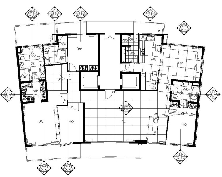 [上海]陆家嘴中央公寓施工图设计