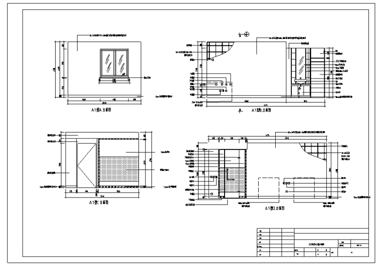 山东泰安某酒店室内装修设计施工图(76张)_1
