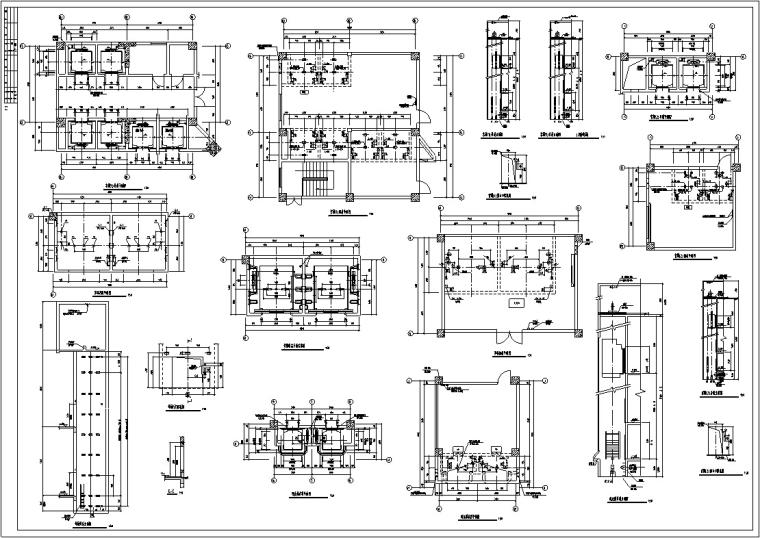 3套商住综合楼建筑设计施工图CAD-黄金海岸商住综合楼电梯大样图