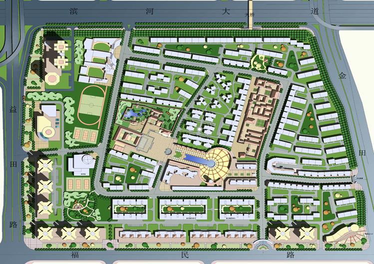 城市居住区道路交通规划与竖向设计
