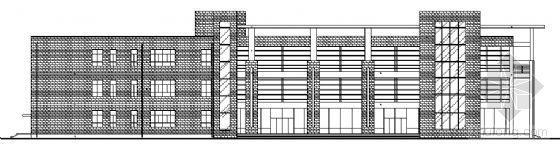漯河中学新建校区三层学生食堂建筑结构施工图