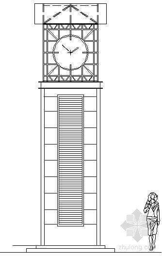 排风井结合钟塔详图