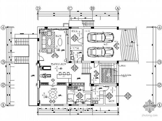 [广州]某现代三层住宅空间施工图(含屋顶花园)