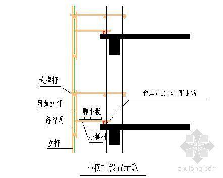 北京某高层商业楼悬挑脚手架施工方案(分段斜拉)
