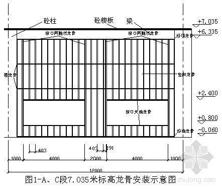内蒙古某工程外墙轻钢龙骨硅酸钙板隔墙施工方案