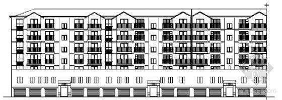 河南省郑州市某小区五层住宅楼建筑方案图