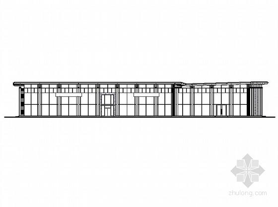 [浙江]两层钢结构金属波纹板外墙知名品牌汽车4S店建筑施工图