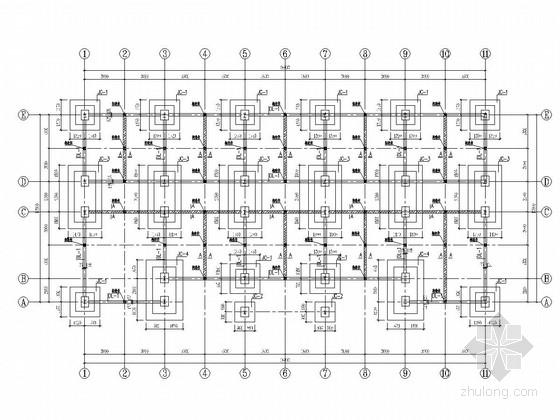 [陕西]三层钢框架结构办公楼结构施工图