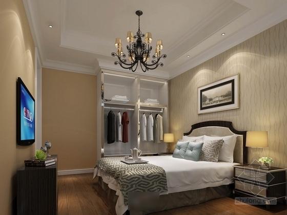 [苏州]简约小户型样板间室内装修图(含效果) 卧室效果