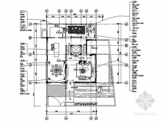 [深圳]海景半山区现代三层别墅样板房装修施工图