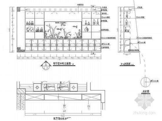 [江苏]时尚四居室家装装修立面图