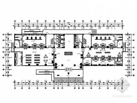 [苏州]豪华时尚政府机关财税办公大楼室内装饰施工图(含电气及给排水系统图)