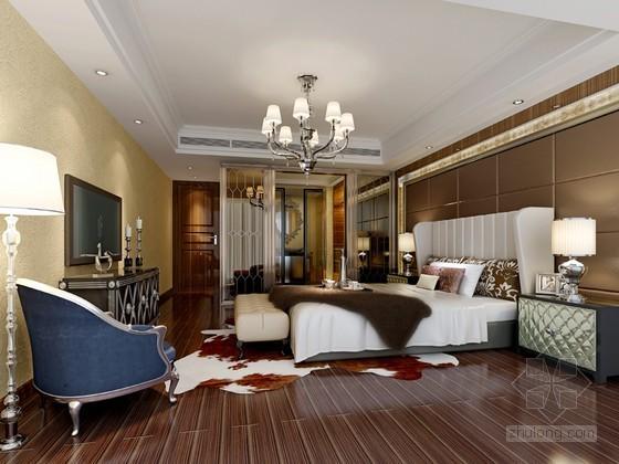 欧式时尚卧室3D模型下载