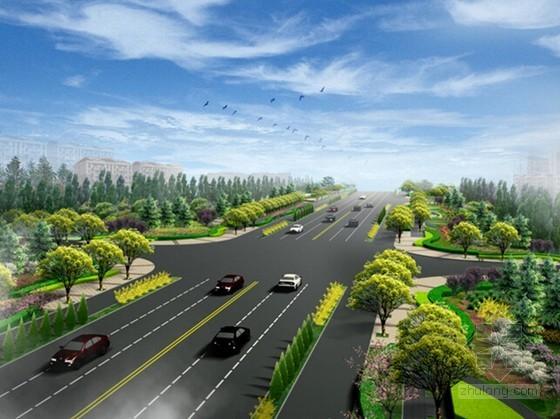 [浙江]2015年市政道路绿化景观工程预算书(含施工图纸)